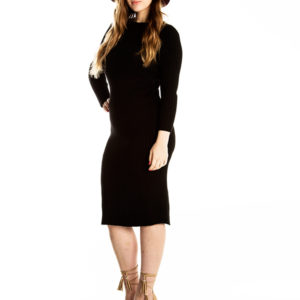 You Don't Know Me Knit Dress in Black