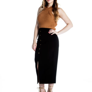 My Way Maxi Skirt in Black
