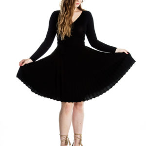 Make You Mine Knit Dress in Black