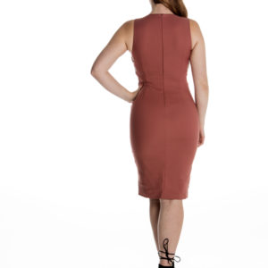Caught Out Bodycon Dress in Mauve