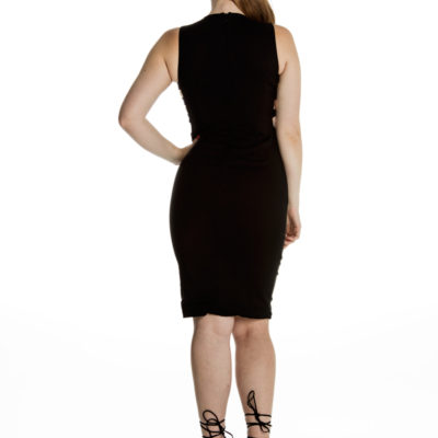 Caught Out Bodycon Dress in Black