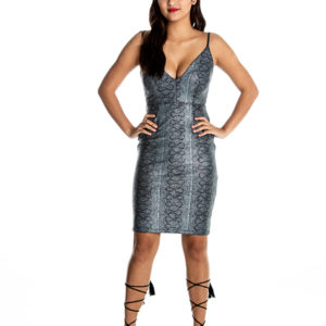 Temptation Midi Dress in Gunmetal