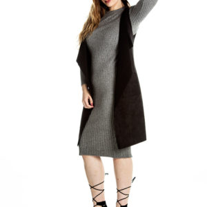 You Don't Know Me Knit Dress in Grey