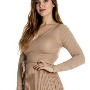 Make You Mine Knit Dress in Blush