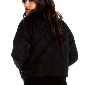 Overtime Bomber Jacket in Black