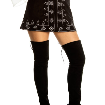 Warrior Mini Skirt in Black
