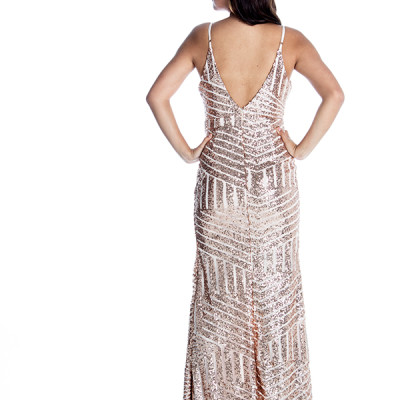 Midas Touch Dress in Gold