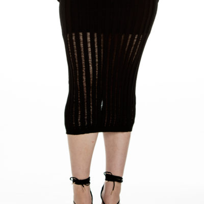 A Million To One Midi Skirt in Black