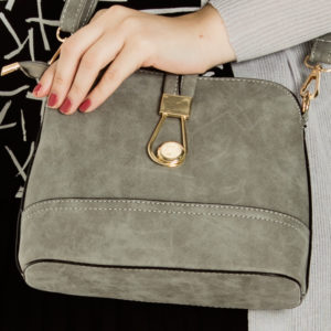 Key To My Heart Bag in Grey