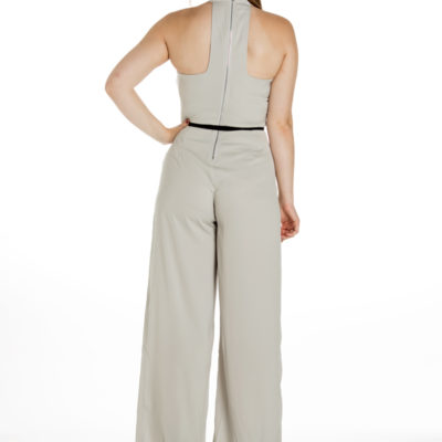 Take a Chance on Me Jumpsuit in Grey