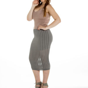 A Million To One Midi Skirt in Grey