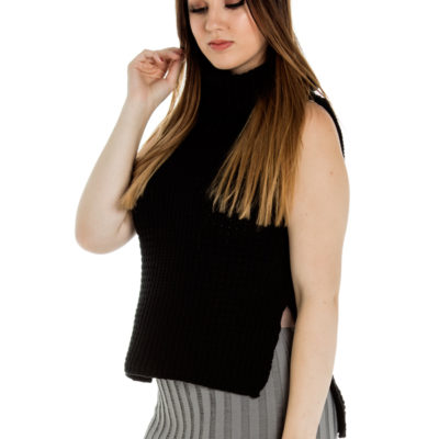You Were Right Knit Top in Black