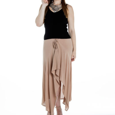 Mesmerise Maxi Skirt in Dusty Pink