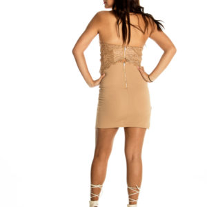 I Want Love Dress in Tan