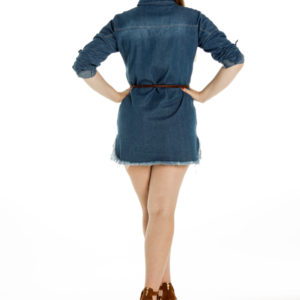 Lone Ranger Shirt Dress in Dark Denim