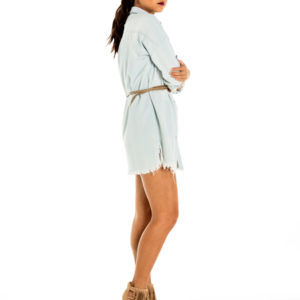 Lone Ranger Shirt Dress in Light Denim