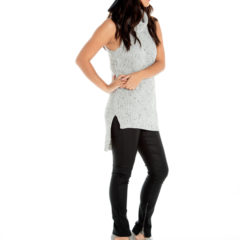 A Stone's Throw Away Knit Top in Speckled Grey