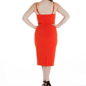 Heart's Desire Dress in Orange