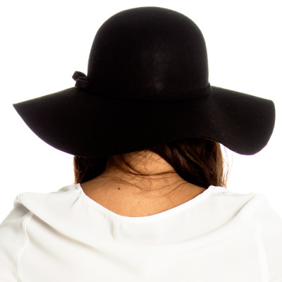 Heather Floppy Hat in Black