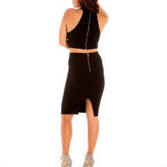 Hold on Me Two Piece Set in Black