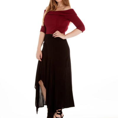 Mesmerise Maxi Skirt in Black
