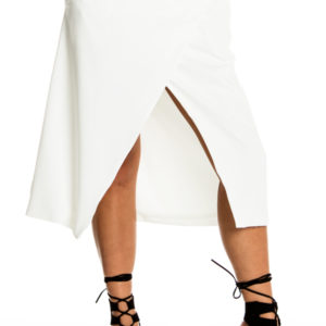 Wrapped Up In Your Love Midi Skirt in White