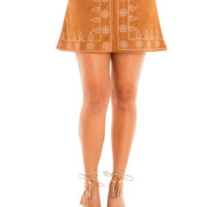 Warrior Mini Skirt in Tan