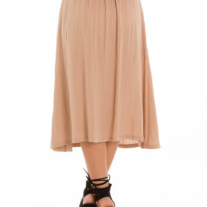 Rewind Midi Skirt in Beige