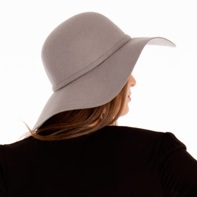 Heather Floppy Hat in Grey