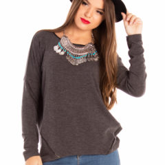 Lazy Day Top in Charcoal