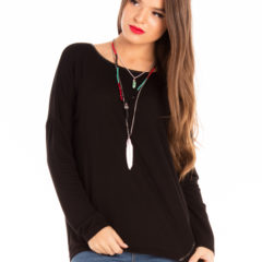 Lazy Day Top in Black